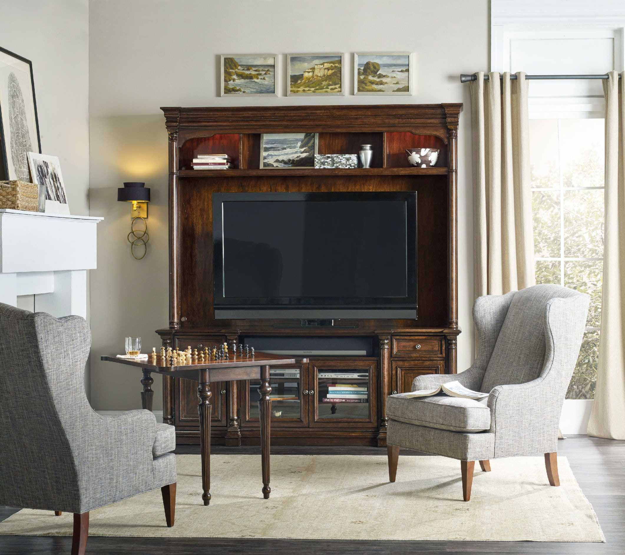 Hooker Furniture Home Entertainment Leesburg Entertainment Console