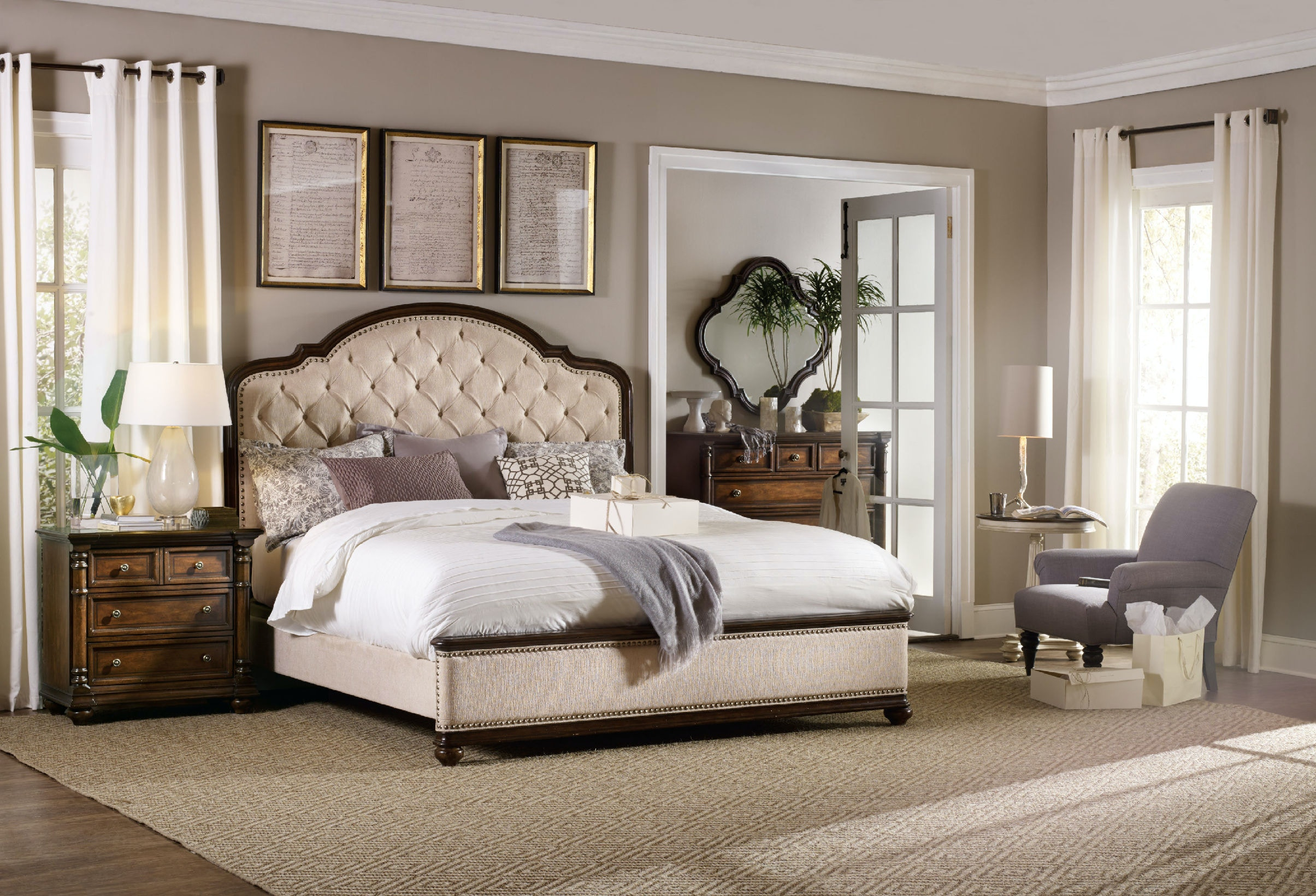 Hooker Furniture Bedroom Leesburg Queen Upholstered Bed 5381 90850 White House Designs For Life