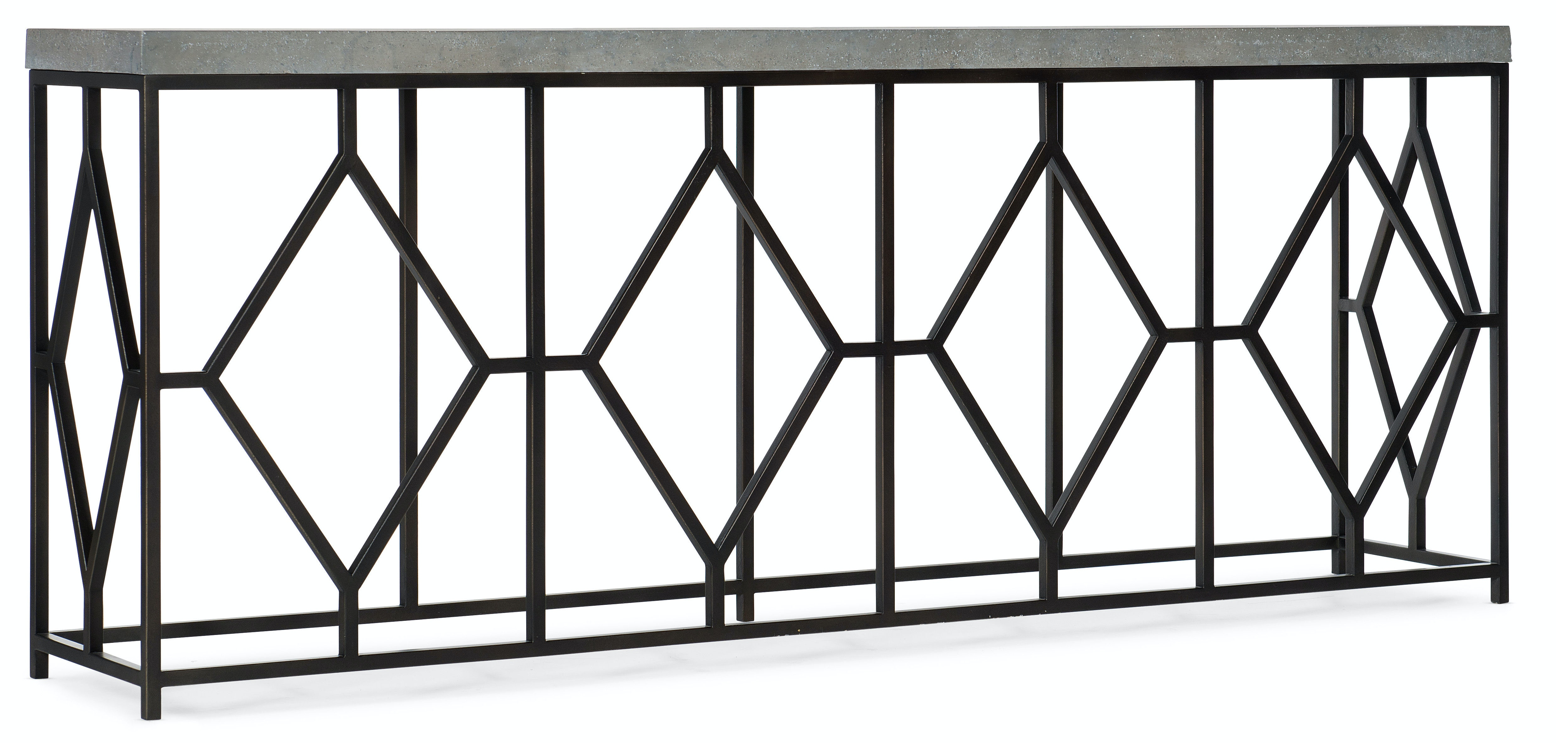 Hooker Furniture Living Room Ciao Bella Metal And Faux Concrete Console Table 5805 85002 00