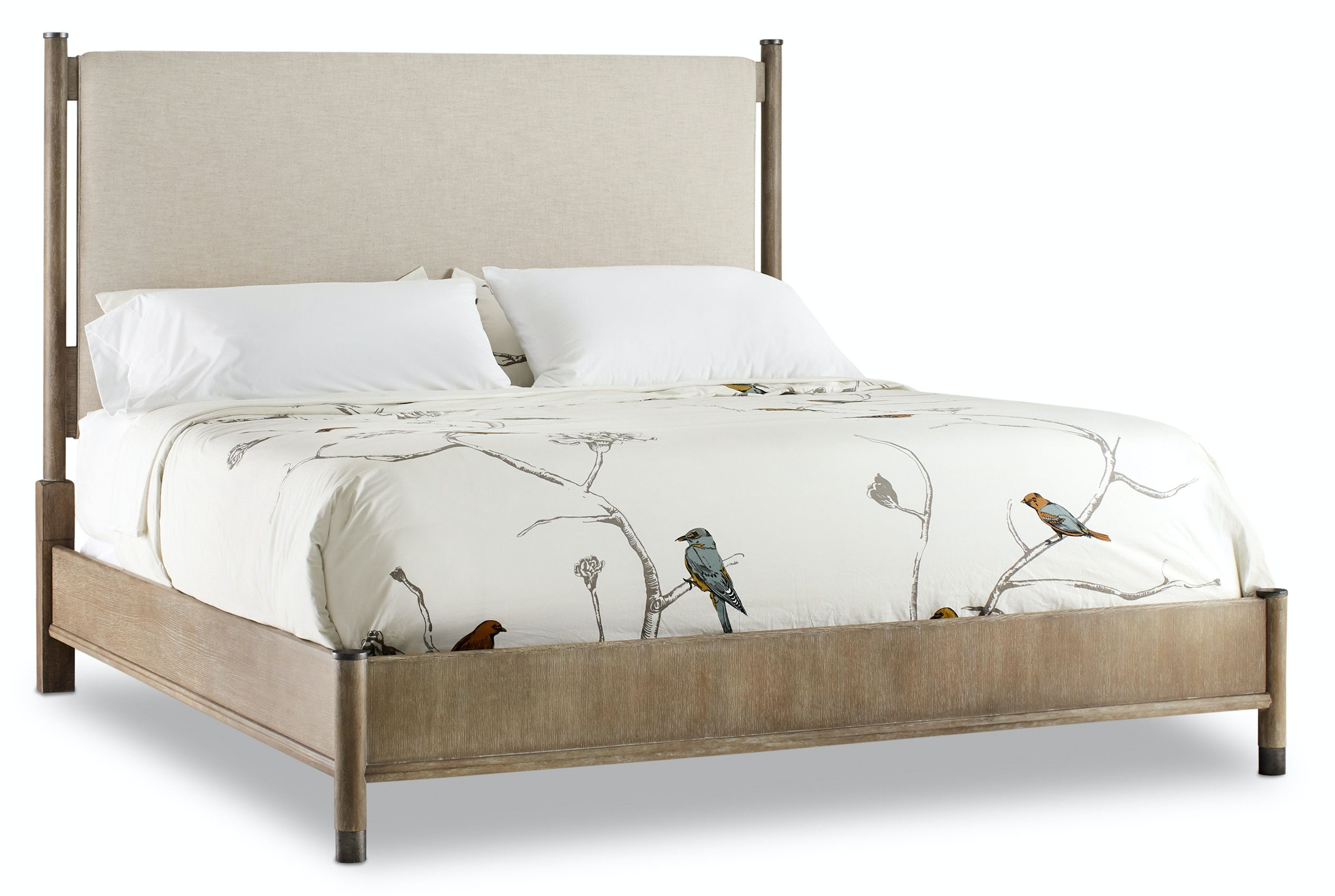 Hooker Furniture Bedroom Affinity California King Upholstered Bed 6050 90960 Gry
