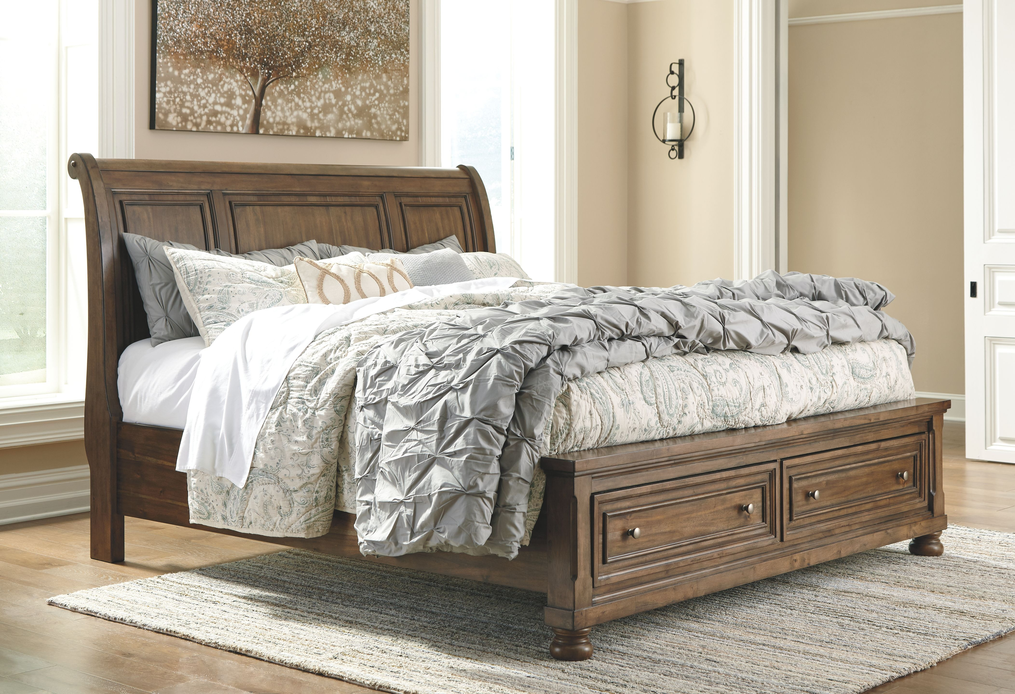 Bedding Storage Flynnter Queen Storage Bed