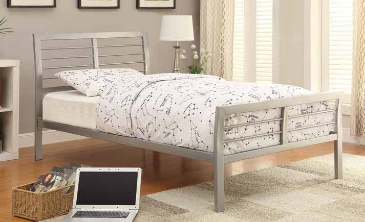 Coaster Youth Cooper Contemporary Silver Metal Twin Bed 300201t Turner Furniture Company Avon