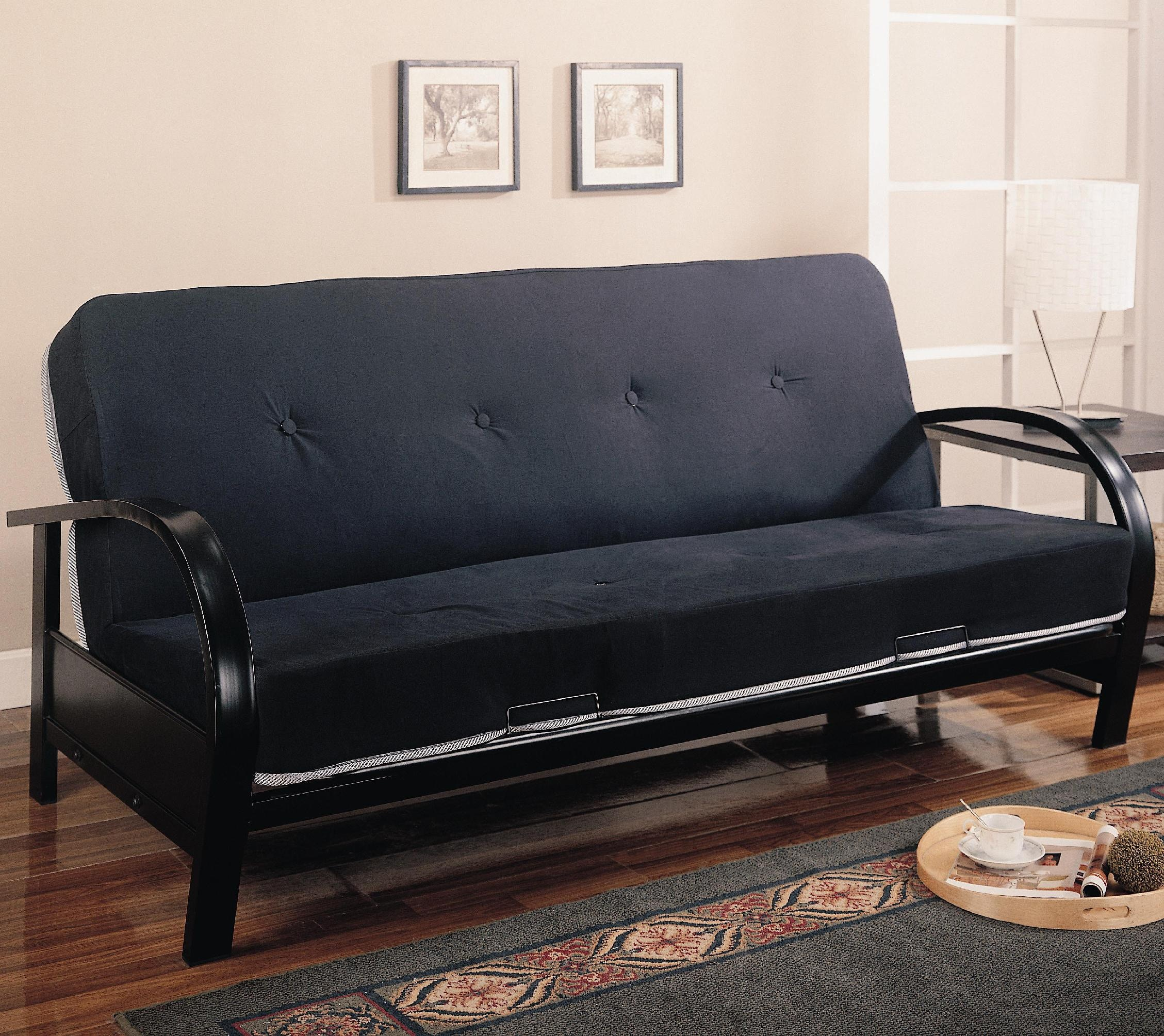 Futon Factory Coaster Living Room Futon Frame 300159 Factory Direct Furniture