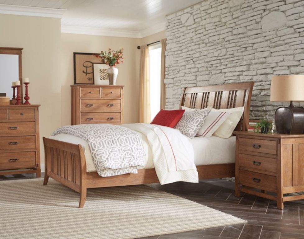 Cresent Fine Furniture Bedroom Camden Sleigh Bed 202 132
