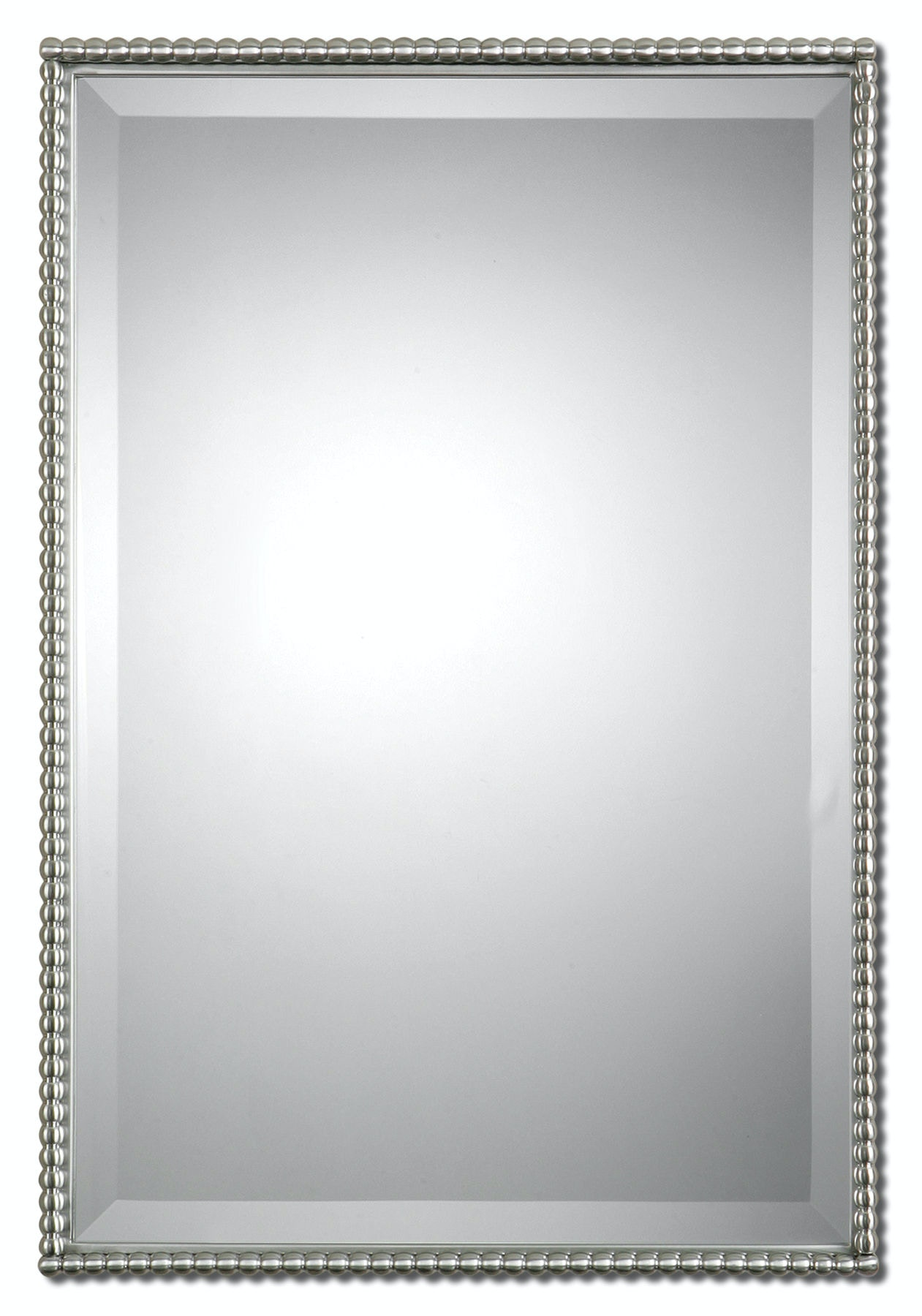 Decorative Brushed Nickel Mirror Uttermost Accessories Sherise Brushed Nickel Mirror Ut01113 Walter E Smithe Furniture Design
