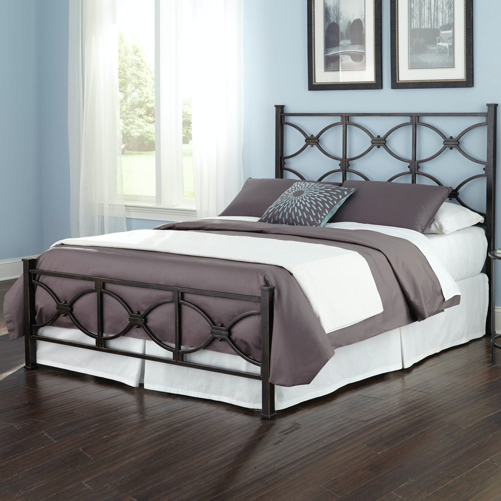King Bed With Posts Fashion Bed Group Bedroom Marlo Bed With Metal Duo Panels And