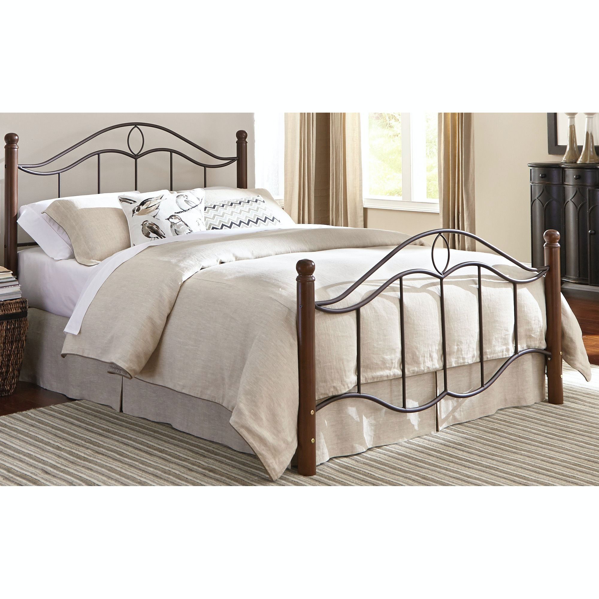 King Bed With Posts Fashion Bed Group Bedroom Cassidy Complete Bed With Metal Duo