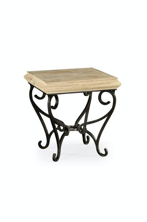 Iron Side Tables For Living Room Living Room Limed Wood Square Side Table With Wrought Iron
