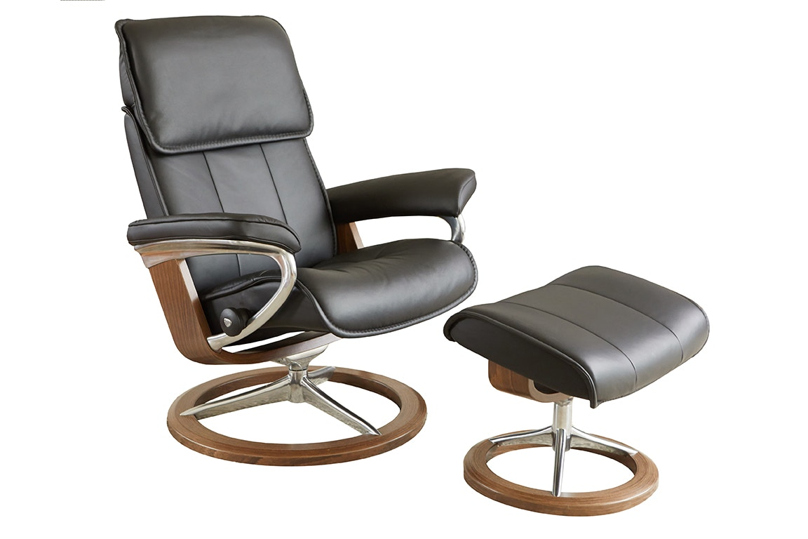 Stressless Outlet Stressless By Ekornes Living Room Stressless Admiral Large Signature Base Chair And Ottoman 1061315 Walter E Smithe Furniture Design