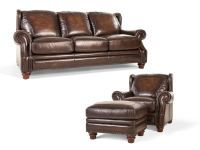 Futura Living Room Frankford Leather Sofa, Chair and Ottoman