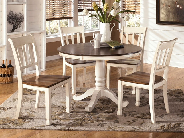 Living Room Ashley Round Dining Room Table And 4 Chairs D583 15 S Turner Furniture Company