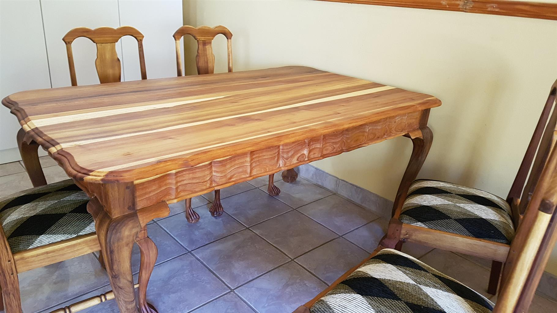 Dining Room Furniture In Pretoria Kiaat Dining Table And Chairs Junk Mail