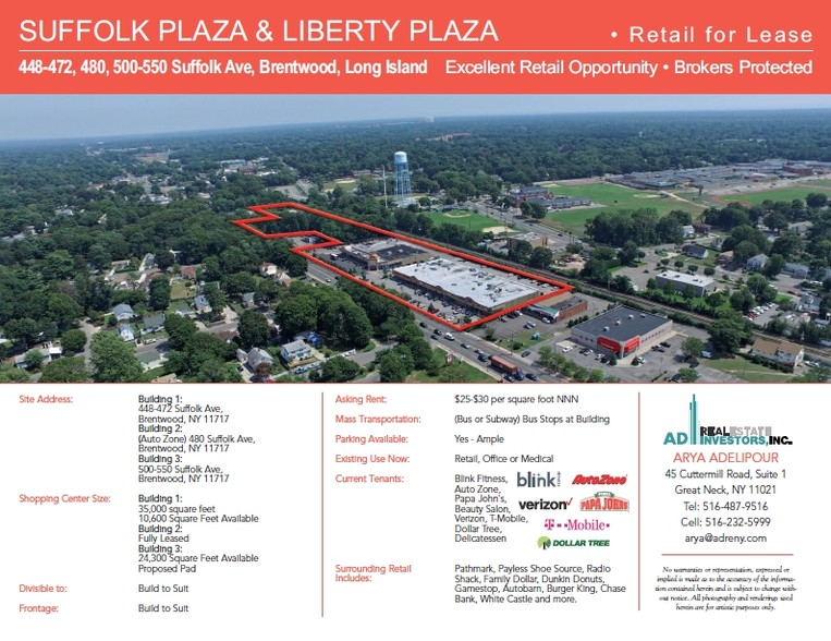 448-472 Suffolk Ave, Brentwood, NY, 11717 - Property For Lease on