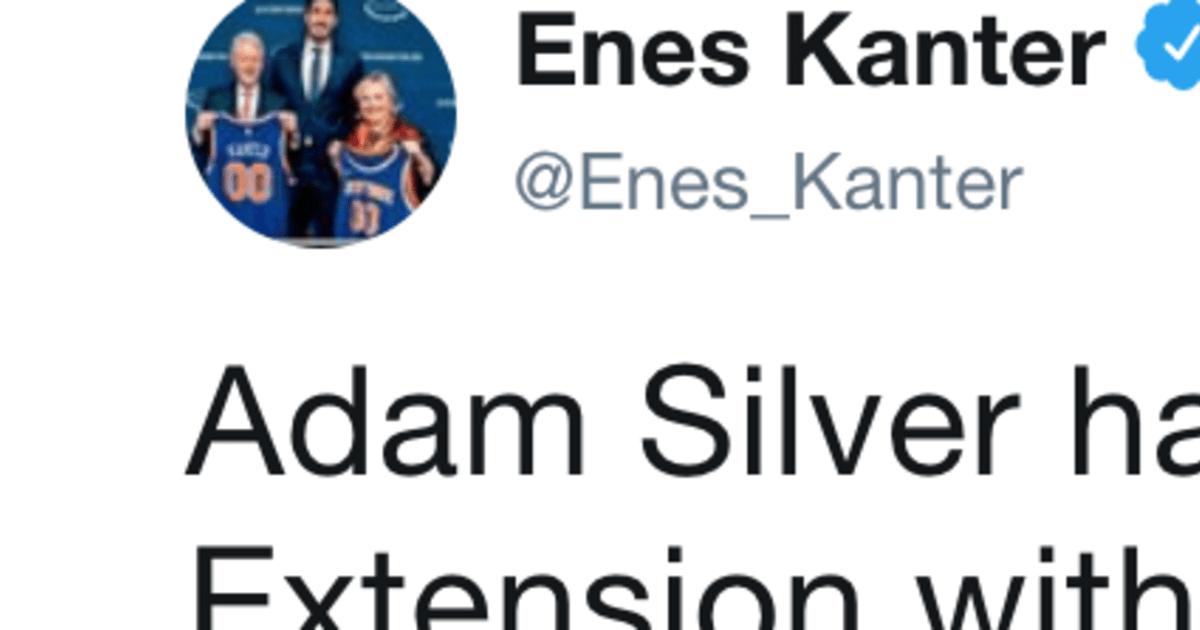 enes kanter adam silver twitter