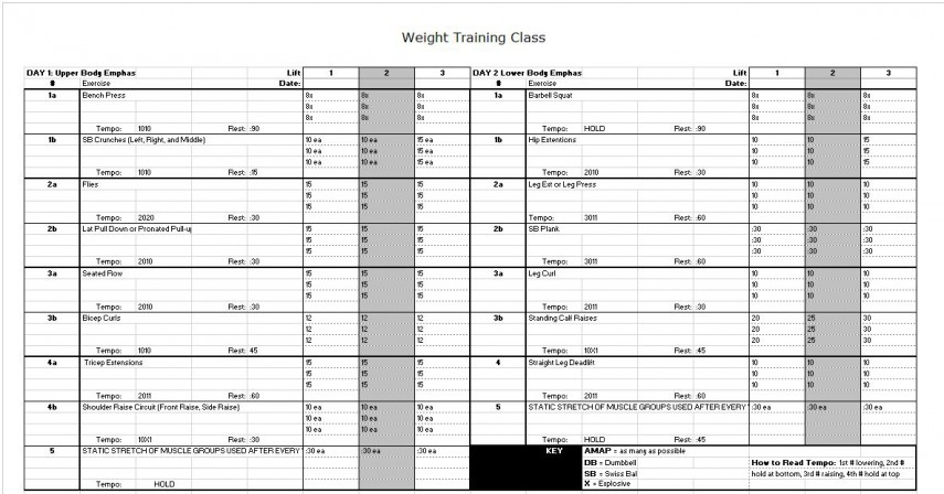 Gym Workout Sheet workout training sheet gym plans for beginners