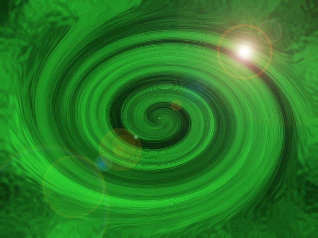 Green Swirl PowerPoint background Pics4Learning