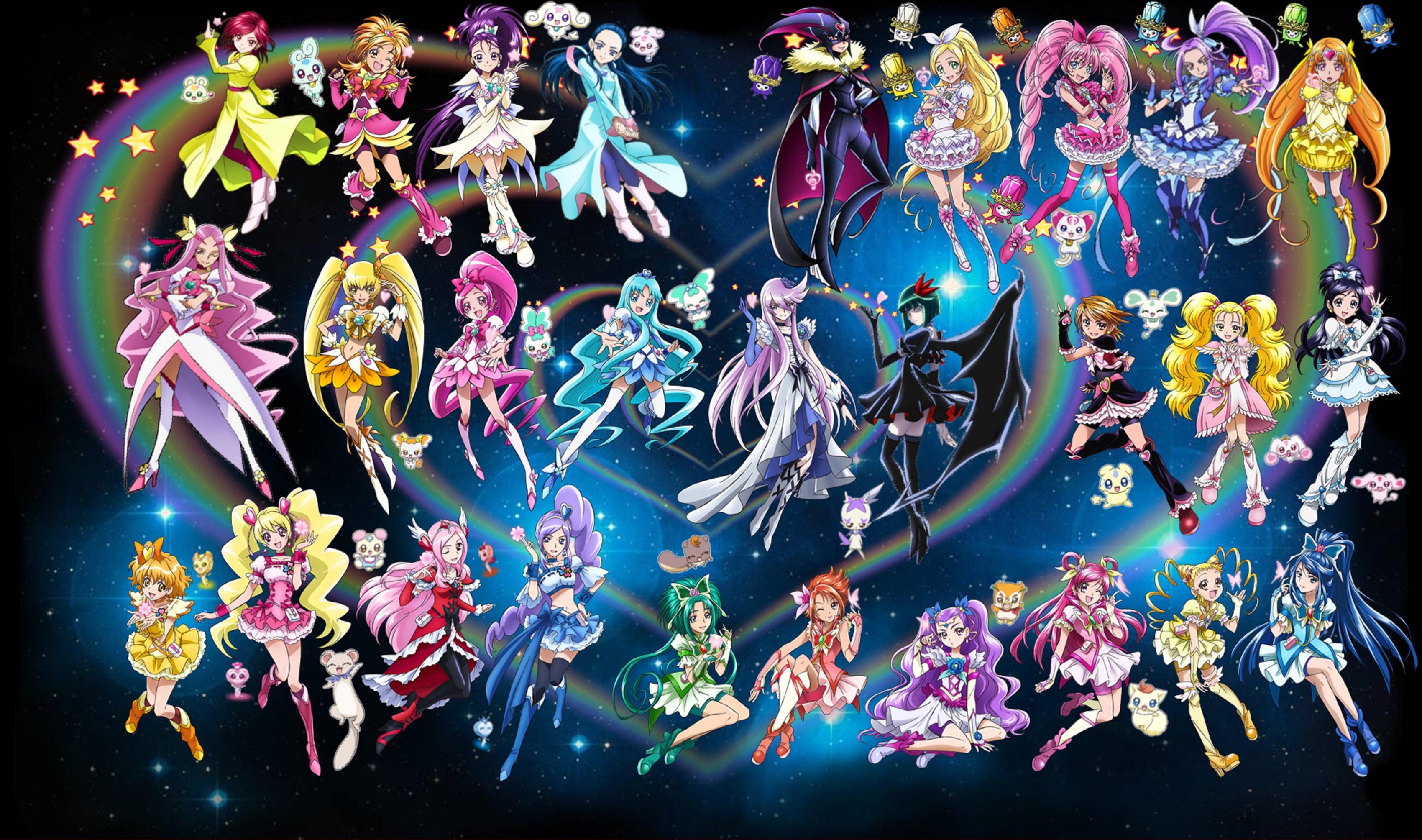 3d Galaxy Wallpaper Hd Pretty Cure Full Hd Wallpaper And Background 3400x2008