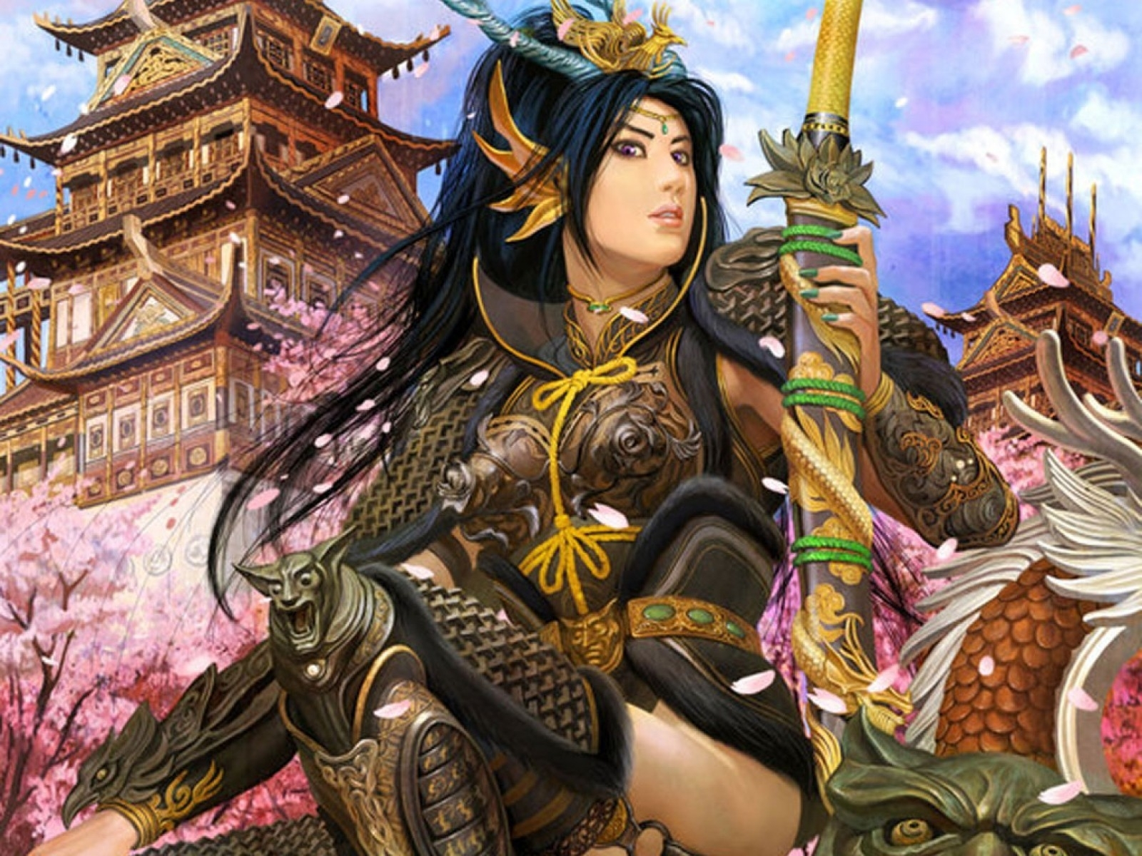 Lg Mobile 3d Wallpaper Samurai Wallpaper And Background Image 1600x1200 Id