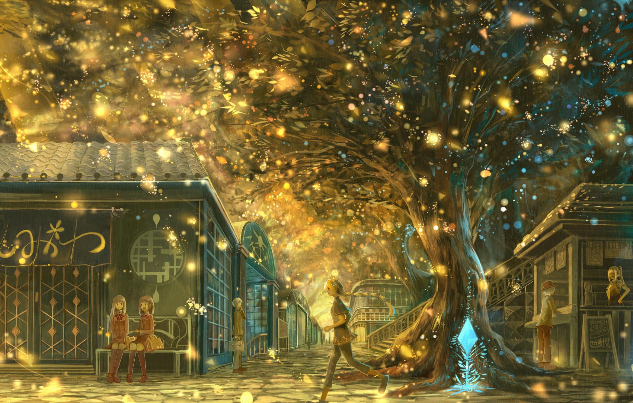 Beautiful Anime Girl Fantasy Forest Wallpaper Beautiful Landscapes 22 Fondo De Pantalla Hd Fondo De