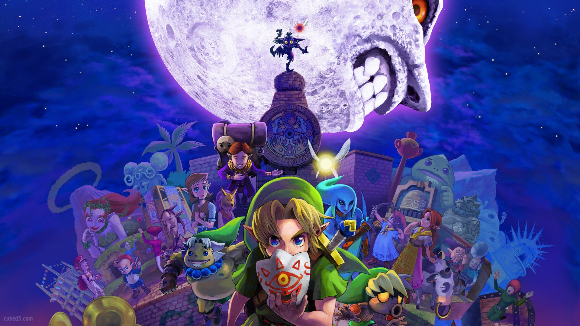 The Legend Of Zelda Hd Wallpaper The Legend Of Zelda Majora S Mask 3d Wallpaper Full Hd