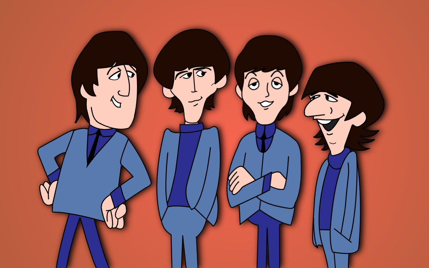 Lg Animated Wallpaper The Beatles Cartoon Tv Show Wallpaper And Hintergrund