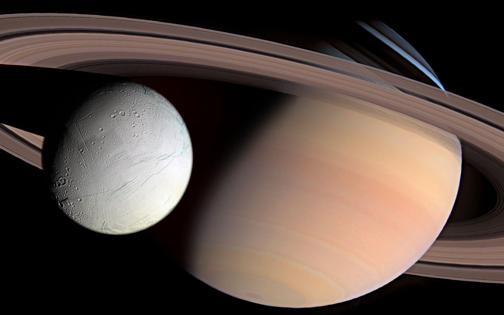 Nasa Iphone 5 Wallpaper Enceladus Wallpaper And Background Image 1680x1050 Id