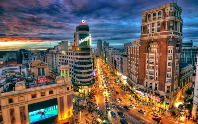 Madrid, Spain at Night HD Wallpaper | Background Image | 2700x1700 | ID:673159 - Wallpaper Abyss