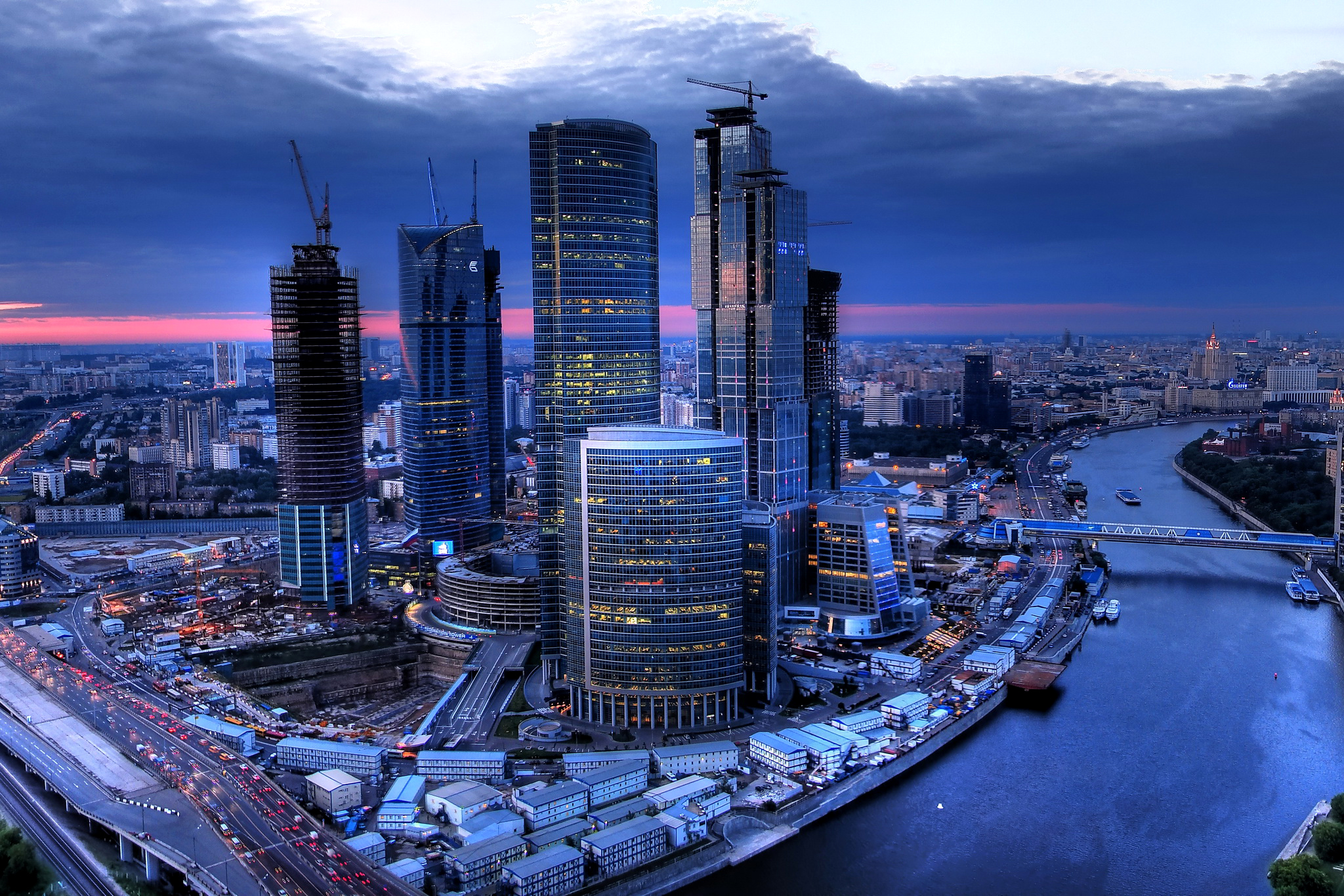 City Skyline Wallpaper Iphone Moscow Russia Cityscape Full Hd Wallpaper And Background