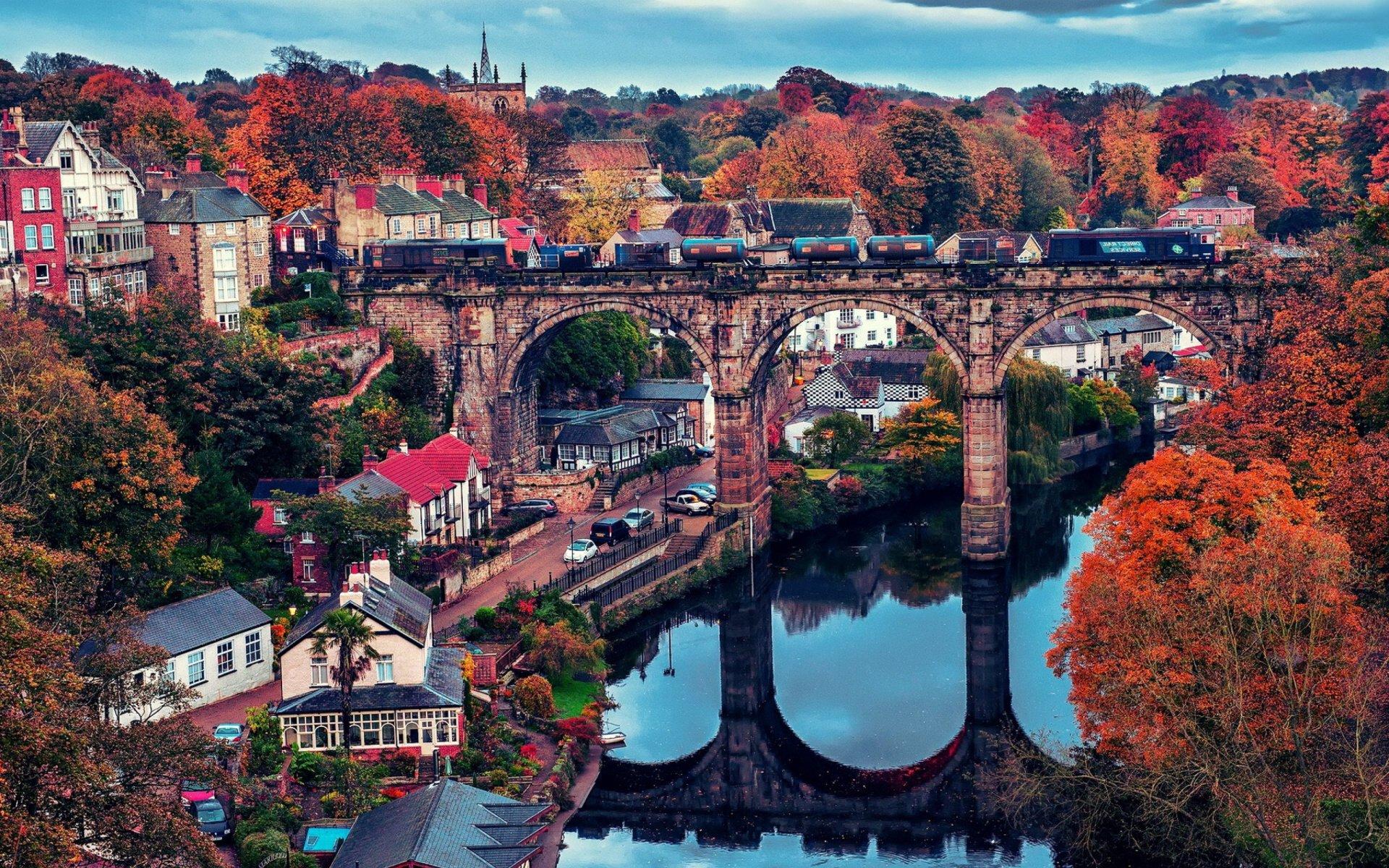 Fall Foliage Hd Wallpaper North Yorkshire England Hd Wallpaper Background Image