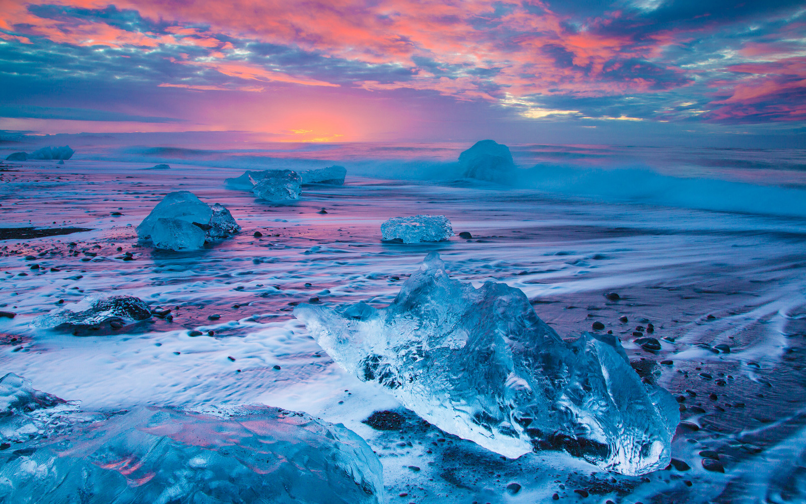 Iphone 5 Hd Wallpaper Nature Beach Sunset In Iceland 壁纸 And 背景 1600x1000 Id 719137