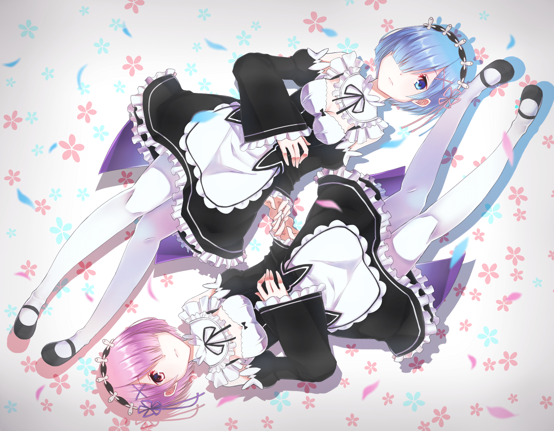 Cute Twin Boy And Girl Wallpapers Re Zero Starting Life In Another World Hd Wallpaper