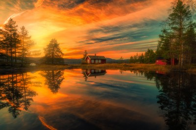 Sunset over House on the Lake HD Wallpaper | Hintergrund | 2048x1367 | ID:746448 - Wallpaper Abyss