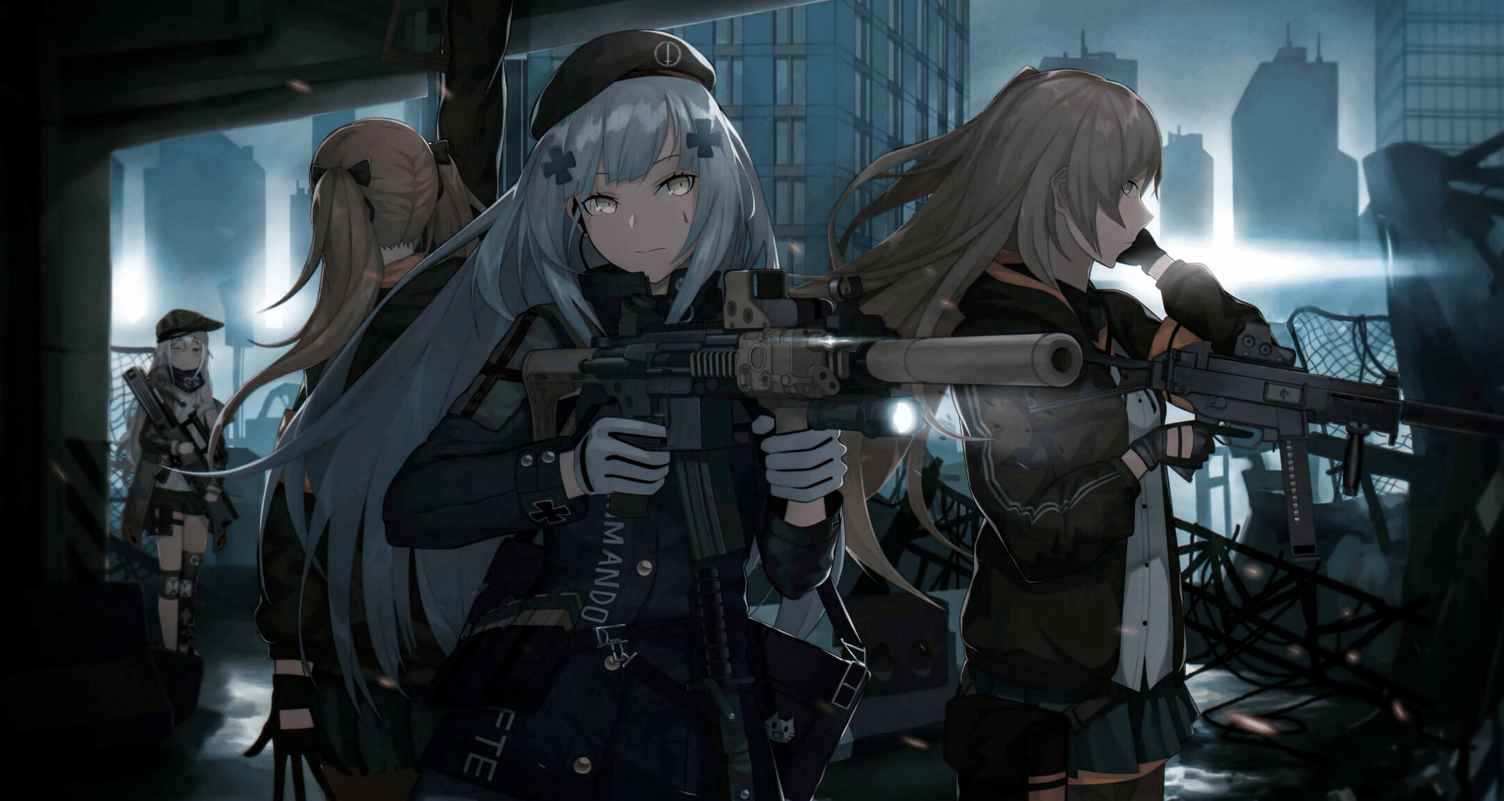 Wallpaper Engine Gun Anime Girl Girls Frontline Hd Wallpaper Background Image