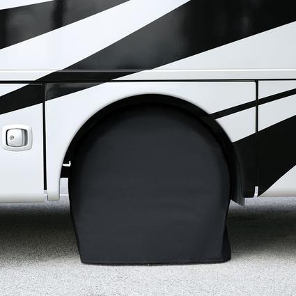 Elements Black Bus Tire Cover Pair, 40\