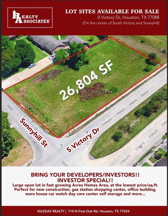 0 Victory Dr, Houston, TX, 77088 - Commercial Property For Sale on - land for sale flyer
