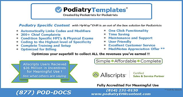 Podiatry paper of writing