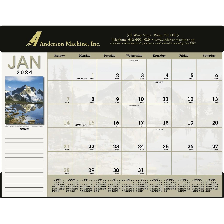 Desk Calendar Personalized 2018 Desk Pad Calendars Large Grid Weekly Monthly At A Scenic Desk Pad Calendar 2017 Custom Desktop Items 8