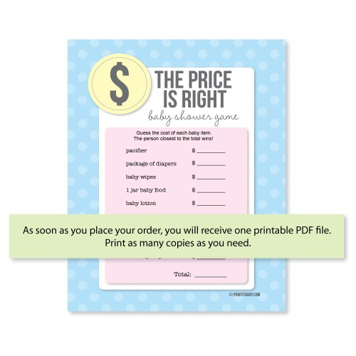Medium Of Price Is Right Baby Shower Game