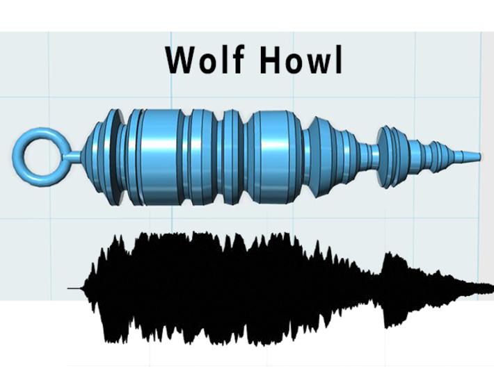 Wolf Howling Waveform Pendant (TPJVLVB83) by MyTune