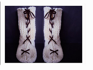 Ravelry 634 Knit Tall Lace Up Slippers 2 Yrs To Adult