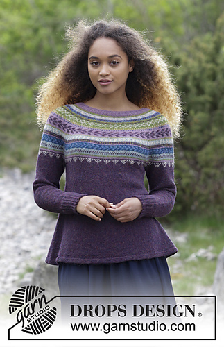 Drops Design Ravelry: 180-7 A Blueberry Fizz Jumper Pattern By Drops Design