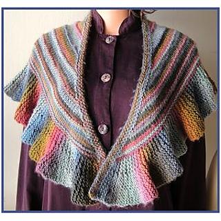 Ravelry: Ruffled Shawl (horizontal ridge) pattern by Gail