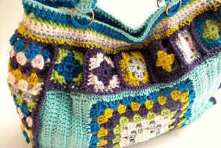 Ravelry Granny Square Bag Tote Bag Pattern By Kristi Bremner