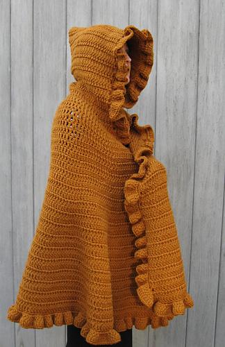 Ravelry: Ruffled Shawl/Cape pattern by Linda Kaye Smith