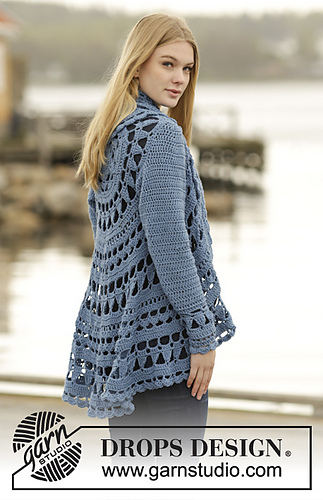 Drops Design Ravelry: 164-16 Sea Glass Pattern By Drops Design