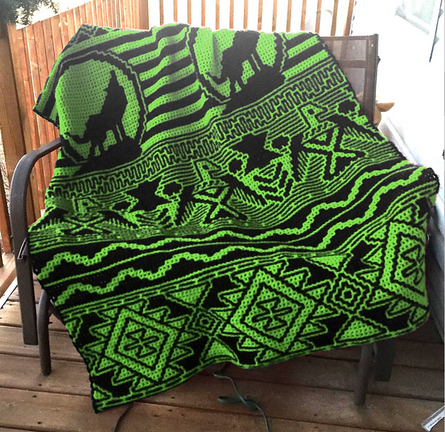 Ravelry Early American Inspired Afghan LFC pattern by Lissa Conley