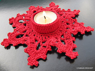 Ravelry Candle Holder Quotmelting Snowflakequot Pattern By