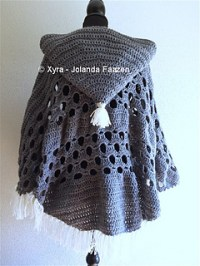 Ravelry: PATR1032 - Poncho with sleeves and large hood ...