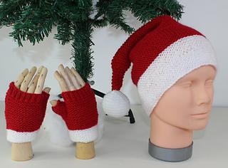 Ravelry Childrens Santa Hat And Fingerless Gloves Pattern