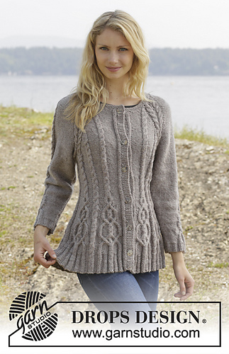 Drops Design Ravelry: 156-4 Alana Cardigan Pattern By Drops Design